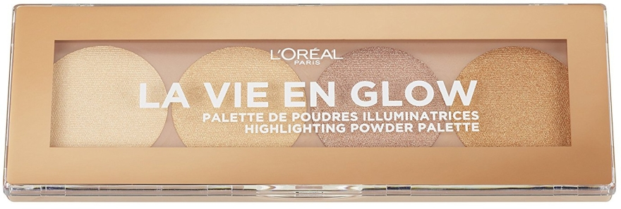 Paletka rozświetlaczy - L'Oreal Paris La Vie en Glow Highlighting Powder Palette