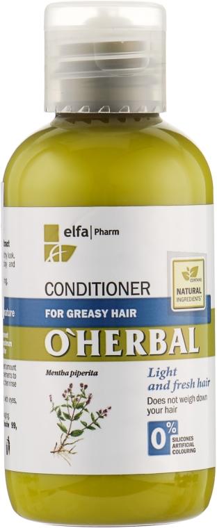 Odżywka z ekstraktem z mięty do włosów przetłuszczających się - O'Herbal