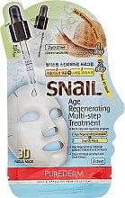 Kup Regenerująca dwuetapowa maseczka do twarzy - Purederm Snail Age Regenerating Multi-Step Treatment