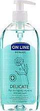 Kup Płybn do higieny intymnej z nagietkiem, kwasem mlekowym i d-panthenolem - On Line Intimate Delicate Intimate Wash