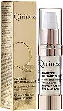 Kup Absolutny przeciwzmarszczkowy krem do skóry wokół oczu i ust - Qiriness Caresse Regard Sublime Ultimate Anti-Age Eye & Lip Cream