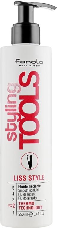 Wygładzający balsam termoochronny do stylizowania włosów - Fanola Tools Liss Style Smoothing Fluid — фото N1