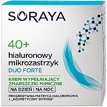 Kup Krem do twarzy wypełniający zmarszczki mimiczne Hialuronowy mikrozastrzyk 40+ - Soraya Duo Forte