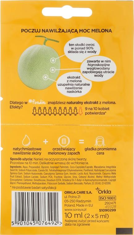 Supernawilżająca maseczka do twarzy Melon - Soraya #Foodie  — фото N2