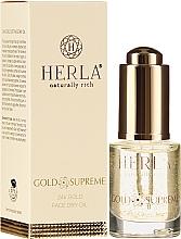 Kup Suchy olejek do twarzy z drobinkami złota - Herla Gold Supreme 24K Gold Face Dry Oil