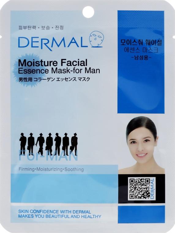 Esencjonalna maseczka nawilżająca na tkaninie do twarzy dla mężczyzn - Dermal Moisture Facial Mask For Men — фото N1