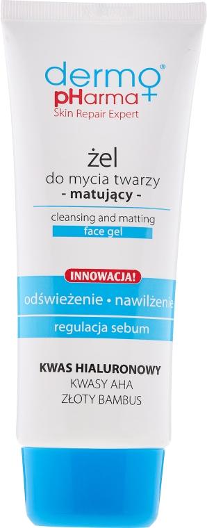 Matujący żel do mycia twarzy Odświeżenie i nawilżenie - Dermo Pharma Cleansing & Matting Face Gel — фото N1