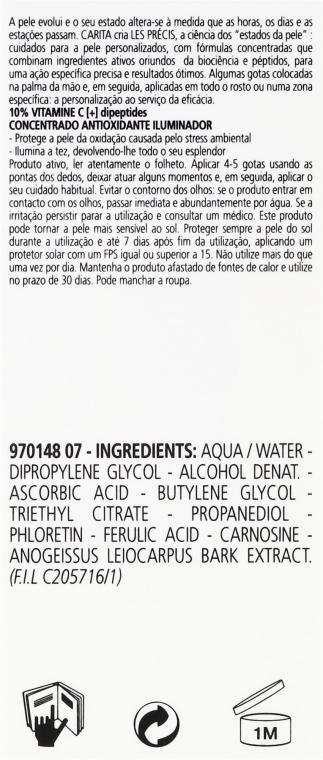 Antyoksydacyjne serum z witaminą C do twarzy - Carita Les Precis 10% Vitamine C [+] Dipeptides Concentre — фото N3