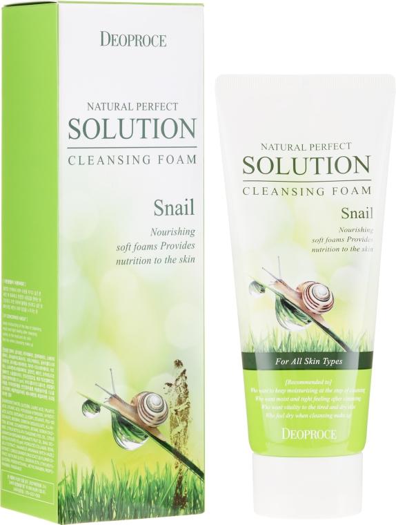 Pianka do mycia twarzy ze śluzem ślimaka - Deoproce Natural Perfect Solution Cleansing Foam Snail — фото N1