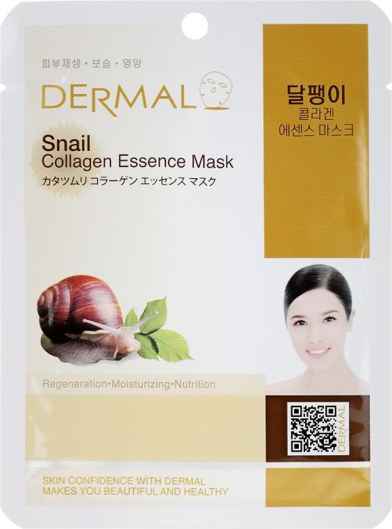 Kolagenowa esencjonalna maseczka na tkaninie do twarzy Śluz ślimaka - Dermal Snail Collagen Essence Mask — фото N1