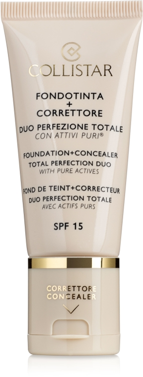 Podkład + korektor 2 w 1 - Collistar Foundation + Concealer Total Perfection Duo