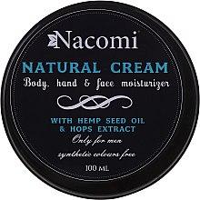 Kup Naturalny krem do ciała z olejem konopnym i ekstraktem z chmielu dla mężczyzn - Nacomi Only For Men
