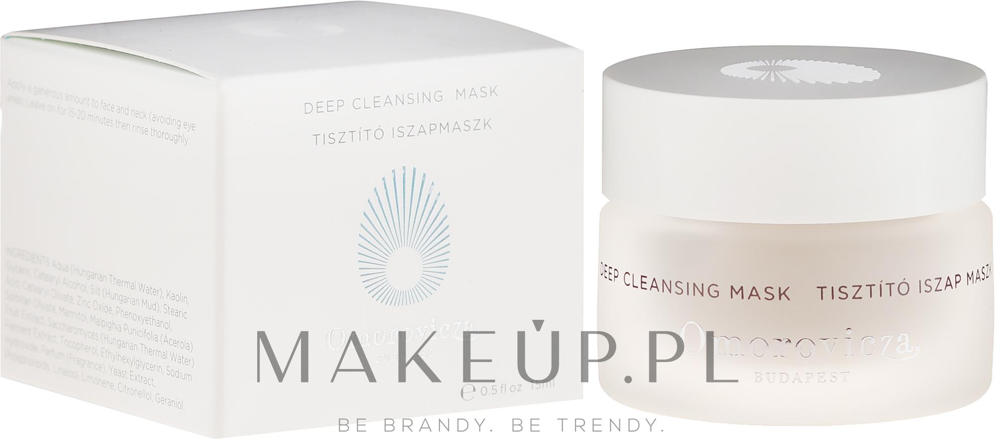 PRZECENA! Oczyszczająca maska do twarzy - Omorovicza Deep Cleansing Mask (miniprodukt) * — фото 15 ml