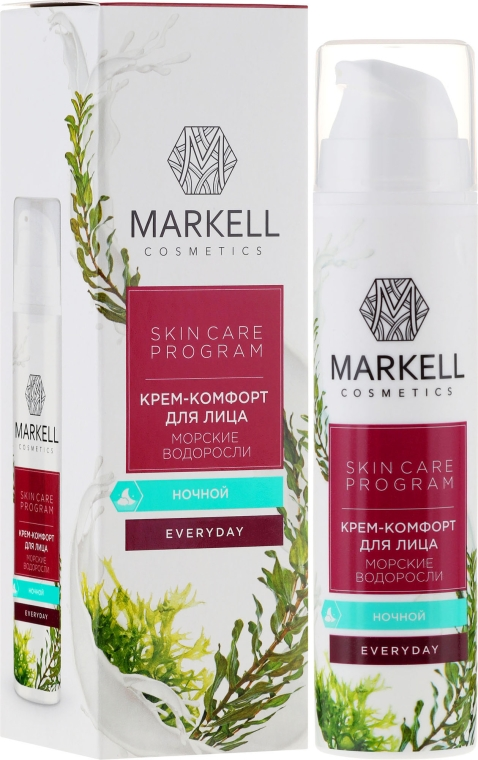 Krem-komfort do twarzy na noc Algi morskie - Markell Cosmetics Everyday — фото N1
