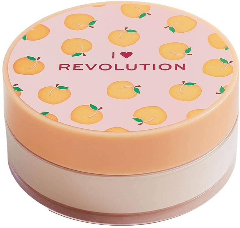 Sypki puder brzoskwiniowy do twarzy - I Heart Revolution Loose Baking Powder Peach