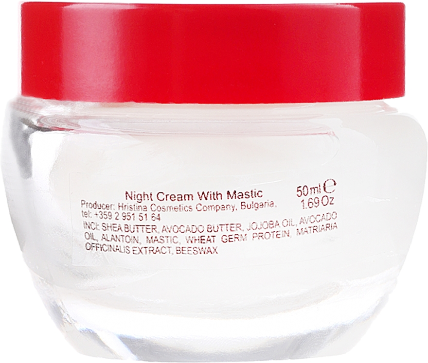 Ręcznie robiony krem do twarzy na noc - Hristina Cosmetics Handmade Mastic Night Cream — фото N2