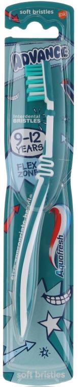 Miękka szczoteczka do zębów dla dzieci 9-12 lat, biało-turkusowa - Aquafresh Advance Soft Bristles — фото N1