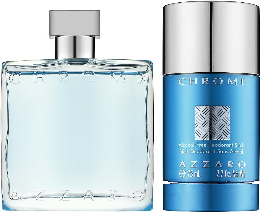 Azzaro Chrome - Zestaw (edt/50ml + deo/75ml) — фото N2