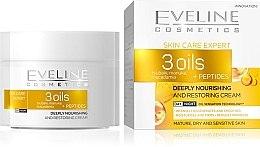 Kup Głęboko odżywczy krem odnawiający do twarzy - Eveline Cosmetics Skin Care Expert 3 Oils Cream