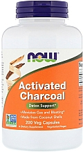 Węgiel aktywny w kapsułkach - Now Foods Activated Charcoal Detox Support — фото N1