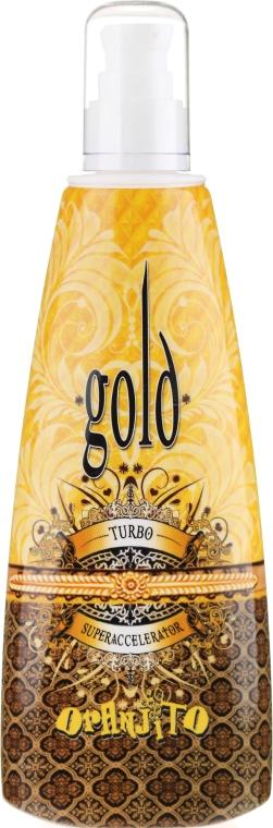Mleczko do opalania w solarium - Oranjito Max. Effect Gold Turbo — фото N1