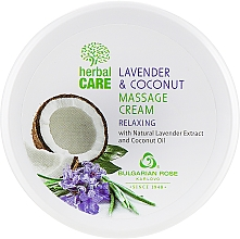 Kup Relaksujący krem do masażu - Bulgarian Rose Herbal Care Lavender & Cococnut Massage Cream