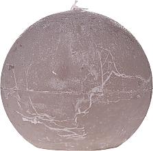 Kup Świeca zapachowa, brązowa kula, 8 cm - Ringa Grey Candle