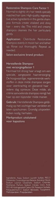 Regenerujący szampon do włosów - Alcina Hair Care Factor 1 Restorative Shampoo — фото N5