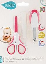 Kup Zestaw do pielęgnacji dziecka, biało-różowy - Nuvita Baby Nail Care Kit (5 x n/file + scissors + pliers)