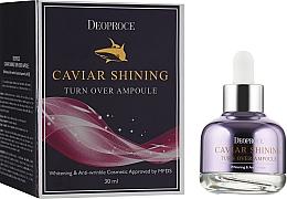 Kup Serum rozświetlające do twarzy z kawiorem - Deoproce Caviar Shining Turn Over Ampoule