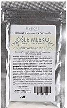 Kup 100% naturalna odżywczo-kojąca maska do twarzy Ośle mleko, aloes i glinka biała - E-Fiore