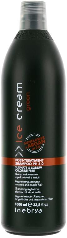 Regenerujący szampon do włosów farbowanych - Inebrya Green Post-Treatment Shampoo — фото N1