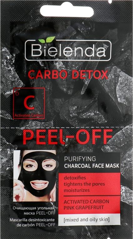 Oczyszczająca maska węglowa do cery mieszanej i tłustej - Bielenda Carbo Detox Peel-Off