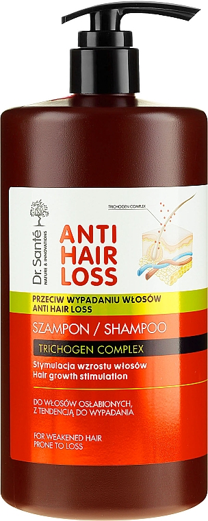 Szampon stymulujący wzrost włosów osłabionych i z tendencją do wypadania - Dr. Santé Anti Hair Loss Shampoo