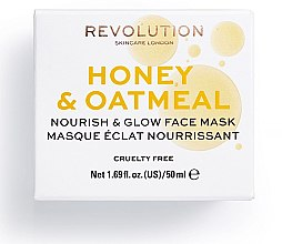 Maska do twarzy Miód i płatki owsiane - Makeup Revolution Honey & Oatmeal Nourish & Glow Face Mask — фото N2