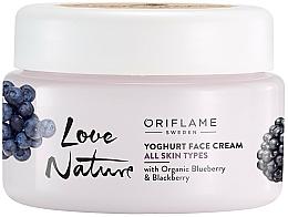 Kup Zmiękczający krem-jogurt do twarzy - Oriflame Love Nature Yoghurt Face Cream With Organic Blueberry & Blackberry