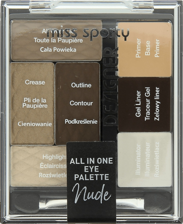 Paletka do makijażu oczu - Miss Sporty Designer All In One Eye Palette