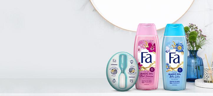 Przy zakupie produktów Fa za min. 15 zł, klepsydrę pod prysznic otrzymasz w prezencie.