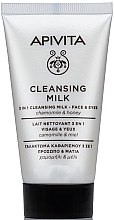 Kup Oczyszczające mleczko do twarzy i oczu z rumiankiem i miodem - Apivita Mini Cleansing Milk with Chamomile & Honey for Face & Eyes (miniprodukt)