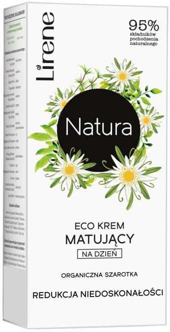 Ekokrem matujący do twarzy na dzień Redukcja niedoskonałości Organiczna szarotka - Lirene Natura Eco Cream