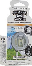 Kup Zapach do samochodu - Yankee Candle Smart Scent Vent Clip Clean Cotton