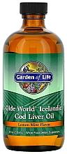 Kup Olej z wątroby dorsza o smaku cytrynowo-miętowym - Garden of Life Olde World