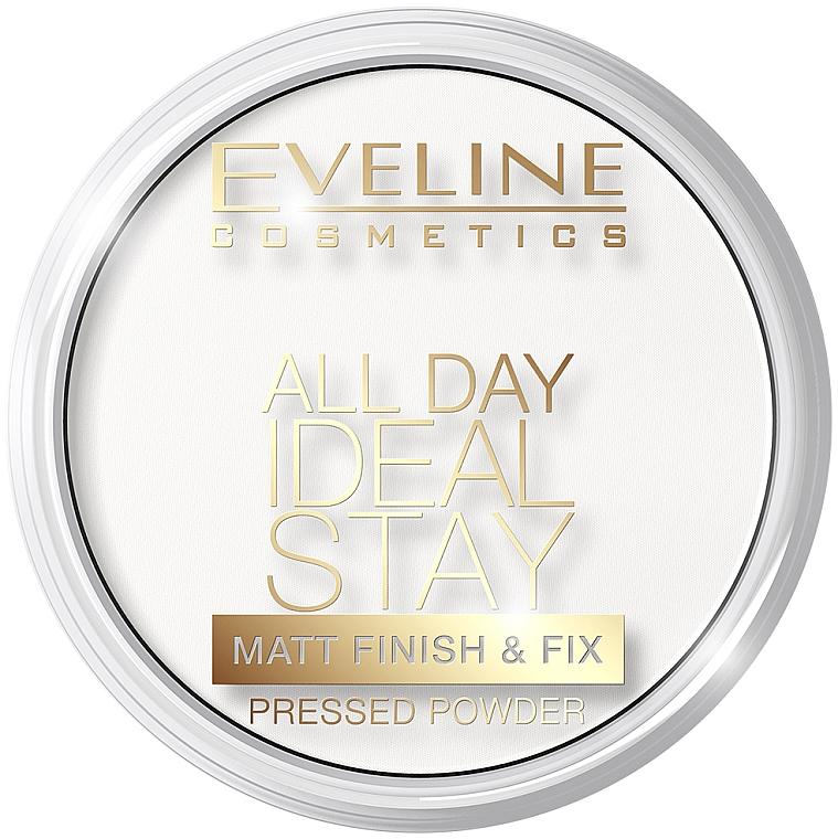 Puder matująco-utrwalający - Eveline Cosmetics All Day Ideal Stay