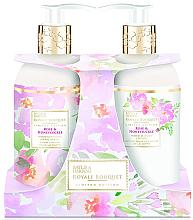 Kup Zestaw do rąk i ciała Róża i wiciokrzew - Baylis & Harding Royal Bouquet Rose & Honeysuckle (h/b/lot 300 ml + soap 300 ml)
