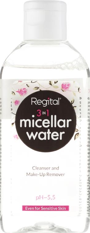 Woda micelarna do demakijażu 3 w 1 - Regital 3 in 1 Micellar Water Cleanser And Make-Up Remover