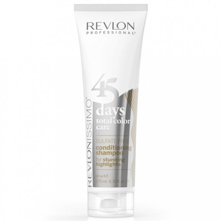 Szampon z odżywką do włosów z pasemkami 2 w 1 - Revlon Professional 45 Days Stunning Highlights 2in1 — фото N1