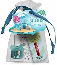 Kup Zestaw - Snails Mermaid Pouch (lip/gloss/3ml + nail/polish/10.5 ml + nail/sticker/1pcs + pouch)