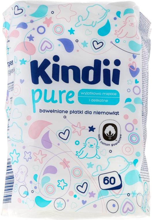 Waciki dla dzieci Kindii, 60 szt. - Cleanic Kids Care Cotton Pads