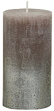 Kup Świeca cylindryczna, Rustic Metallic Champagne Taupe, 130/68 mm - Bolsius Candle