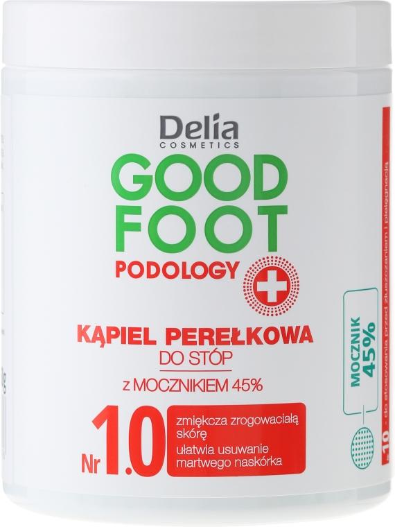 Kąpiel perełkowa do stóp z mocznikiem 45% - Delia Cosmetics Good Foot Podology Nr 1.0